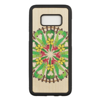 Abstract Garden Illustration Carved Samsung Galaxy S8 Case
