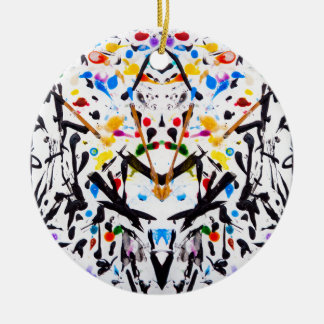Abstract Garden in Reflection Christmas Ornament