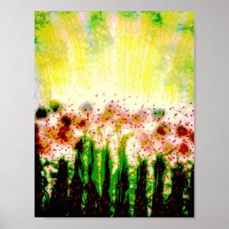 Abstract Garden Landscape Art Poster