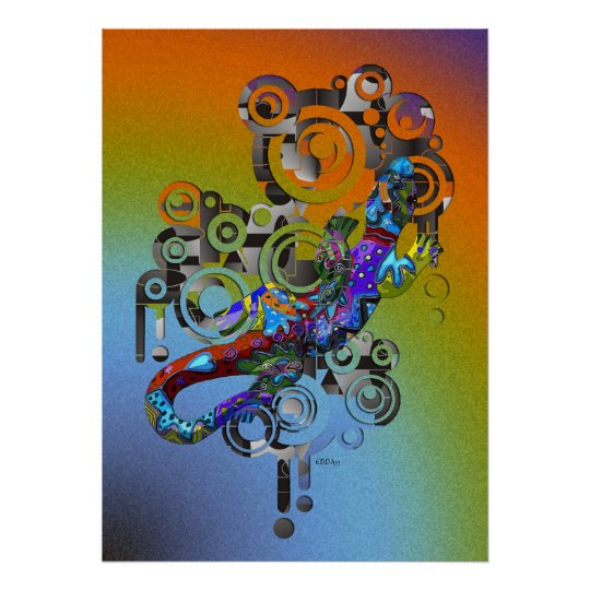 abstract Gecko Poster