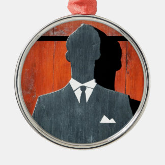 Abstract Gentleman Suit Silhouette Christmas Ornament