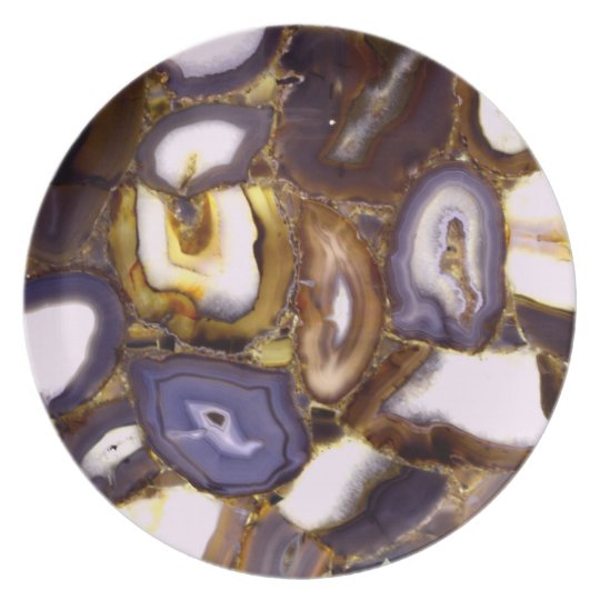 Abstract Geodes Plate