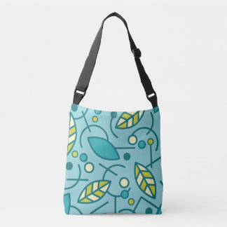 Abstract Geometric Aqua Seamless Pattern Crossbody Bag