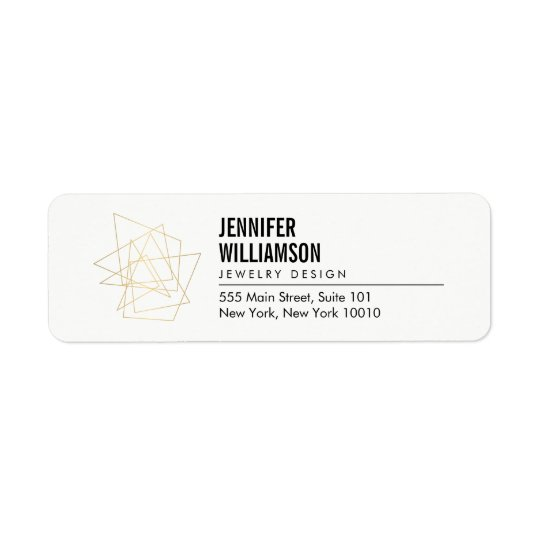 Abstract Geometric Architectural Logo White/Gold