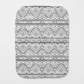Abstract Geometric Aztec Pattern 2 Burp Cloth