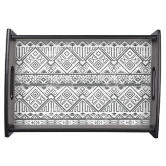 Abstract Geometric Aztec Pattern 2 Serving Tray