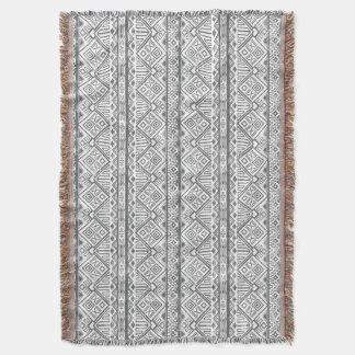 Abstract Geometric Aztec Pattern 2 Throw Blanket