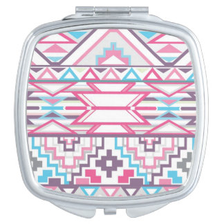 Abstract Geometric Aztec Pattern 3 Compact Mirror