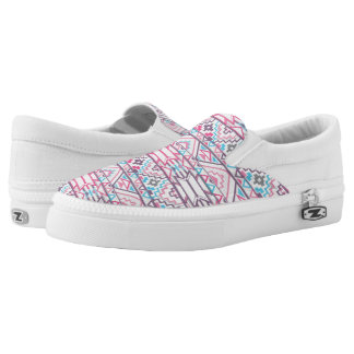 Abstract Geometric Aztec Pattern 3 Slip-On Shoes