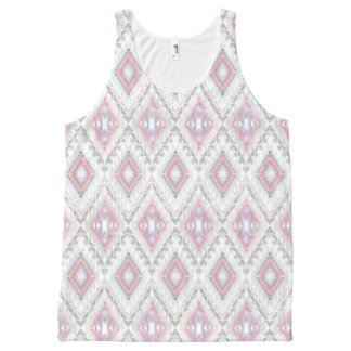 Abstract Geometric Aztec Pattern All-Over Print Tank Top