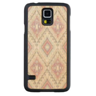 Abstract Geometric Aztec Pattern Carved Maple Galaxy S5 Case