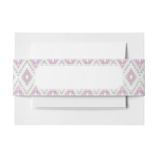 Abstract Geometric Aztec Pattern Invitation Belly Band