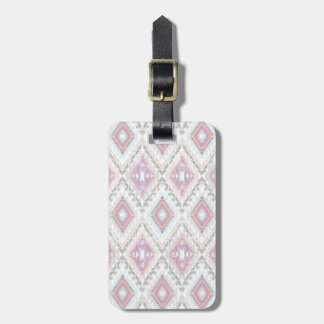 Abstract Geometric Aztec Pattern Luggage Tag