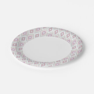 Abstract Geometric Aztec Pattern Paper Plate