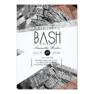 Abstract Geometric Bachelorette Bash | Chic Party 13 Cm X 18 Cm Invitation Card