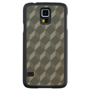 Abstract Geometric Background Pattern Carved Maple Galaxy S5 Case