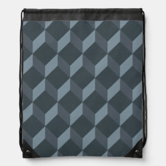 Abstract Geometric Background Pattern Drawstring Bag