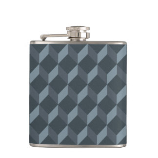 Abstract Geometric Background Pattern Flask