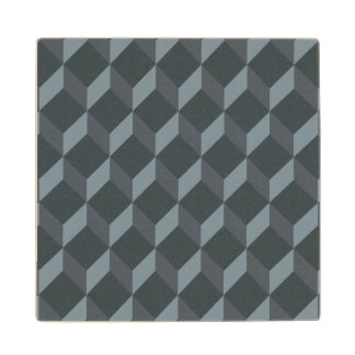 Abstract Geometric Background Pattern Wood Coaster