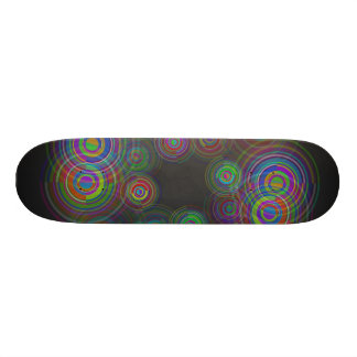 Abstract geometric circles. 20 cm skateboard deck