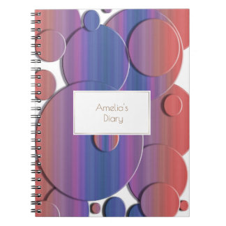 Abstract geometric circles 3d texture. Name. Notebooks