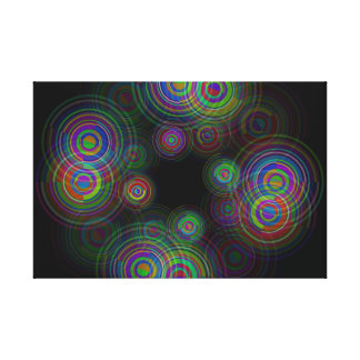 Abstract geometric circles. canvas print