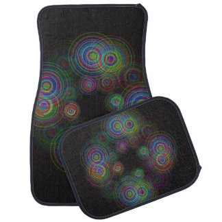 Abstract geometric circles. car mat