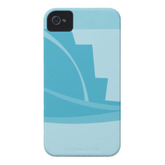 Abstract Geometric Design in Turquoise and Teal. iPhone 4 Cases