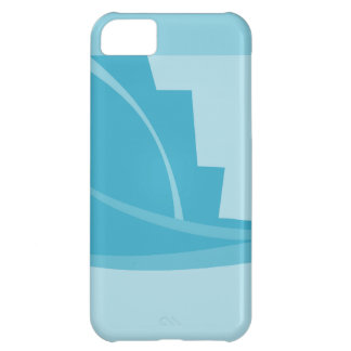 Abstract Geometric Design in Turquoise and Teal. iPhone 5C Case