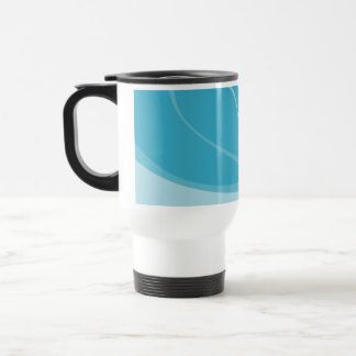 Abstract Geometric Design in Turquoise and Teal. Travel Mug