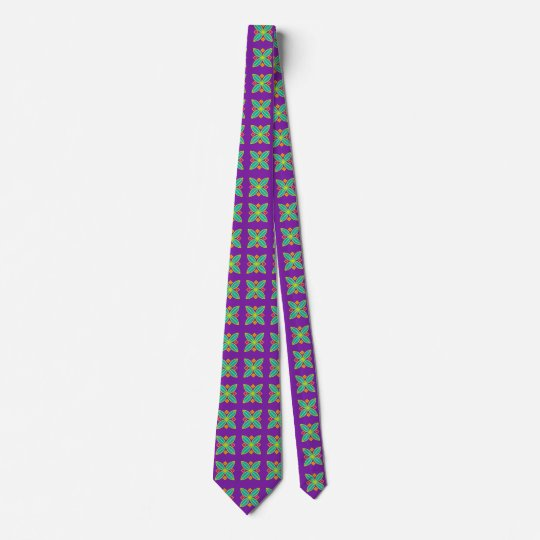 Abstract geometric design purple tie