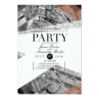 Abstract Geometric Engagement Party | Chic Party 13 Cm X 18 Cm Invitation Card