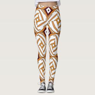 Abstract geometric, fantastic ornament vintage leggings