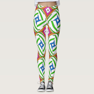 Abstract geometric, fantastic ornament with vintag leggings