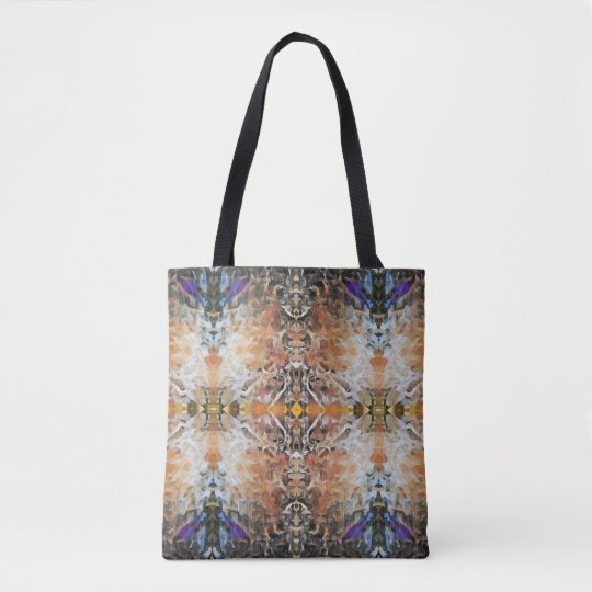 Abstract Geometric Fractal Design Pattern Tote Bag