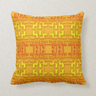Abstract geometric  gradient pattern. cushion