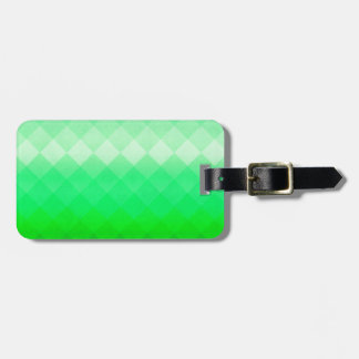 Abstract Geometric Green Luggage Tag
