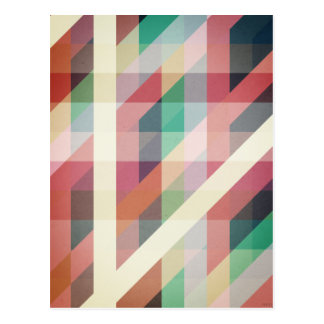 Abstract Geometric Lines Postcard