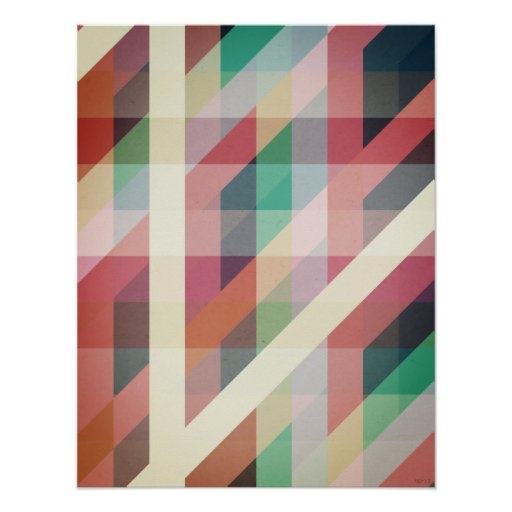 Abstract Geometric Lines Poster