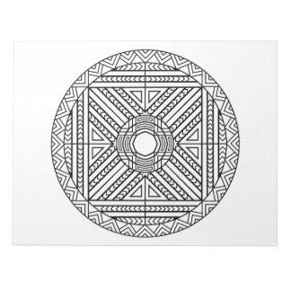 Abstract Geometric Mandala Coloring Book Pad