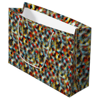 Abstract Geometric Mesh Repeat Pattern Gift Bag