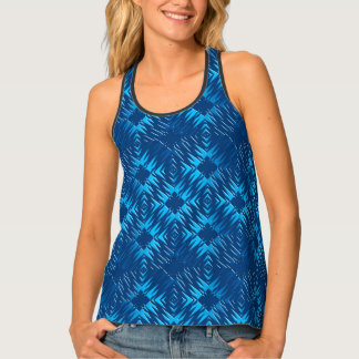 Abstract geometric navy pattern tank top