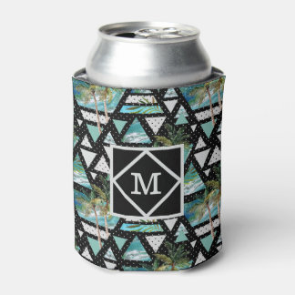 Abstract Geometric Palms & Waves Pattern Can Cooler