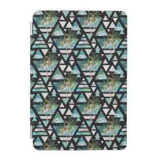 Abstract Geometric Palms & Waves Pattern iPad Mini Cover