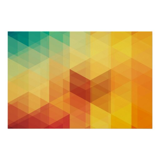 Abstract Geometric Pattern 2 Poster