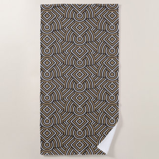 Abstract Geometric Pattern beach towel