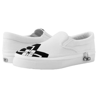 Abstract geometric pattern - black and white. Slip-On shoes