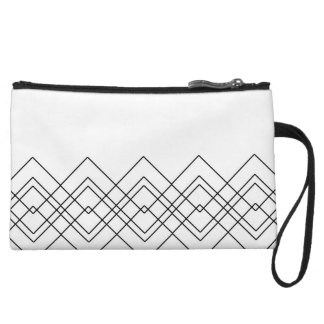 Abstract geometric pattern - black and white. wristlet