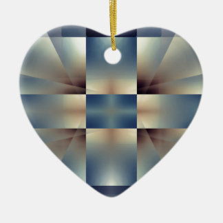 Abstract geometric pattern christmas ornament