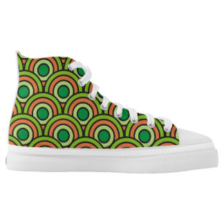 abstract geometric pattern circle round texture high tops